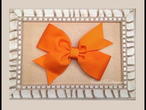 Laço Catavento Duplo: Passo a passo - Como encapar bico de pato - DIY Pinwheel Bow - YouTube