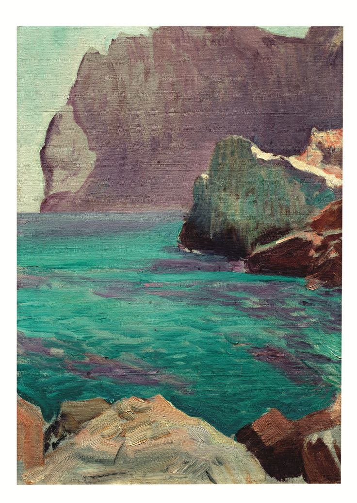 amare-habeo:      Joaquín Sorolla (Spanish, 1863 – 1923)   Cala de San Vicente, Mallorca, 1919 Oil on canvas, 72.5 x 51.5 cm