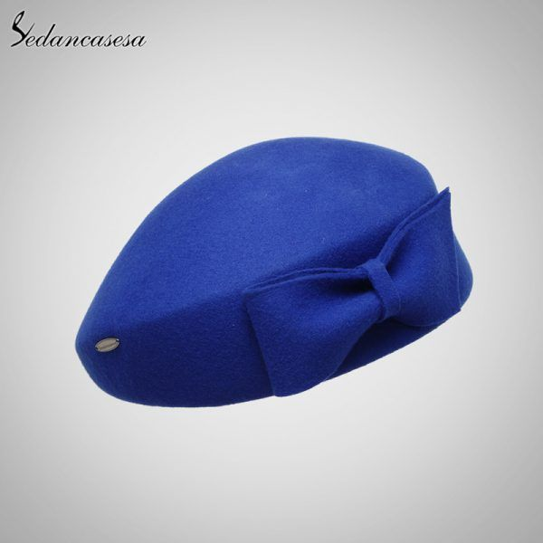 e4e7cf8610d5e Women Beret hat Ladies Elegant Cloche 100% Australia merino wool ...