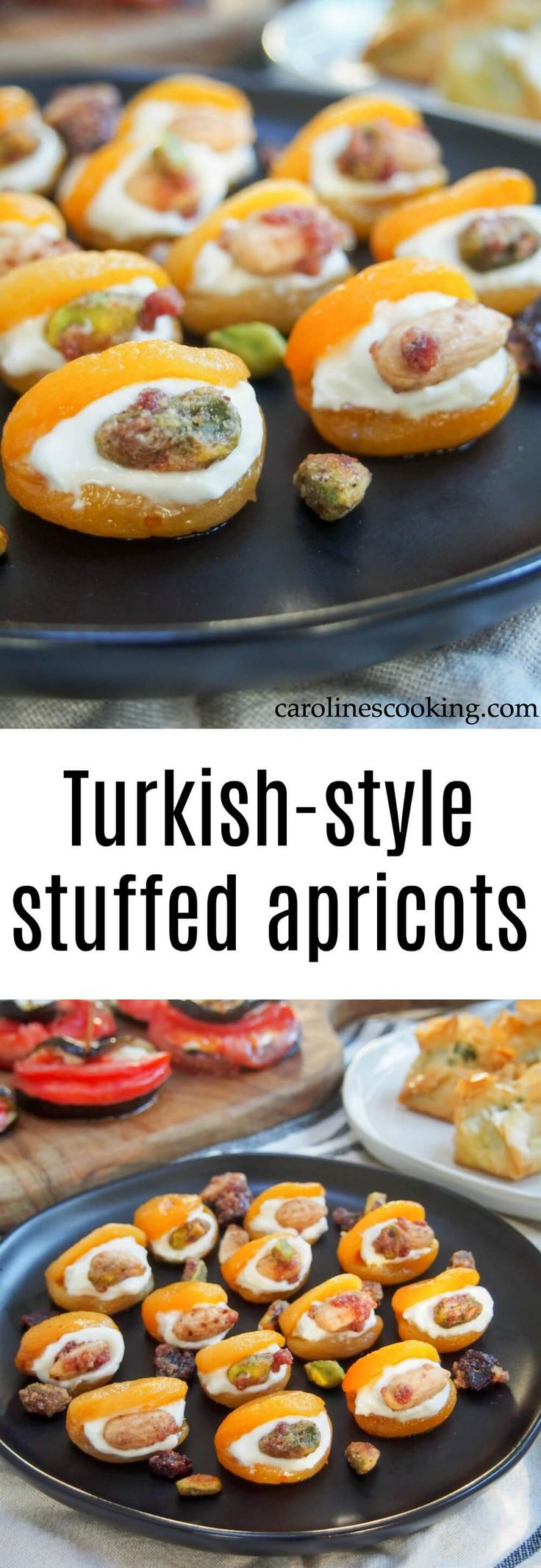 These Turkish-style stuffed apricots are incredibly easy to make and perfect for entertaining, whether as a sweet appetizer or simple bite-sized dessert.