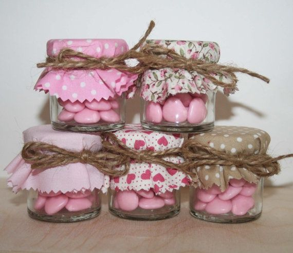 Decorated Mason Jars Filled With Chocolate Candy