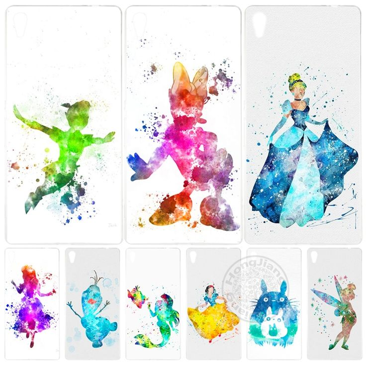 Cartoon Anime little Princess luxury Watercolor Cover phone Case for sony xperia z2 z3 z4 z5 mini plus aqua M4 M5 E4 E5 C4 C5 XA