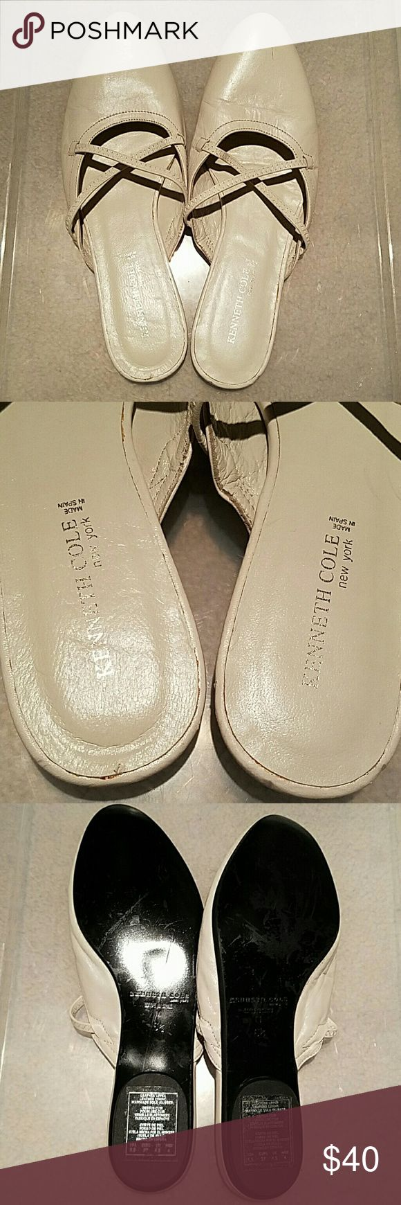 Kenneth Cole Slip On Flat Slippers Flat Slip-On / Slipper. KENNETH COLE. Cream Leather. Leather Upper. Leather Lining. New York. Man-Made Sole (Rubber). Size: 6.5 [Medium] (US), MAKE OFFER! Kenneth Cole Shoes Slippers