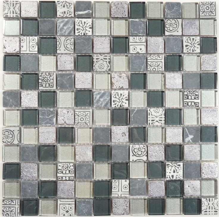 Latest Egyptian Grey 7 8 x 7 8 Glass and Stone Glossy Tile Ideas - Elegant davinci tile Review