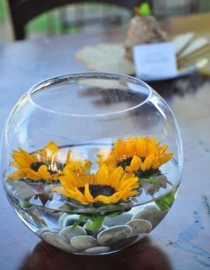 Centros de mesa de vidrio para la boda: Fotos de las mejores ideas (5/10)   Ellahoy