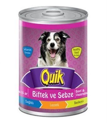 Lezzetli ve sağlıklı QUIK biftekli sebzeli yaş mama, kolay sindirilen protein içeriği ve lezzeti ile köpeğinizin çok hoşuna gidecektir. Köpeklerin severek yiyeceği servise hazır tam ve dengeli bir mamadır. Tek başına ya da kuru mama ile karıştırılarak servis edilebilir. Hayvansal proteinlerin yanı sıra A, D3 ve E vitaminleri içerir.
