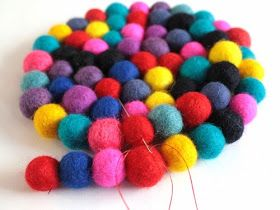 Diy Projects: Felt Ball Mat
