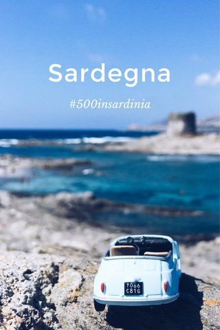The parking spots of a mini #Fiat500 in front of locations representative of #Sardinia. #stellerstories @stellerstories