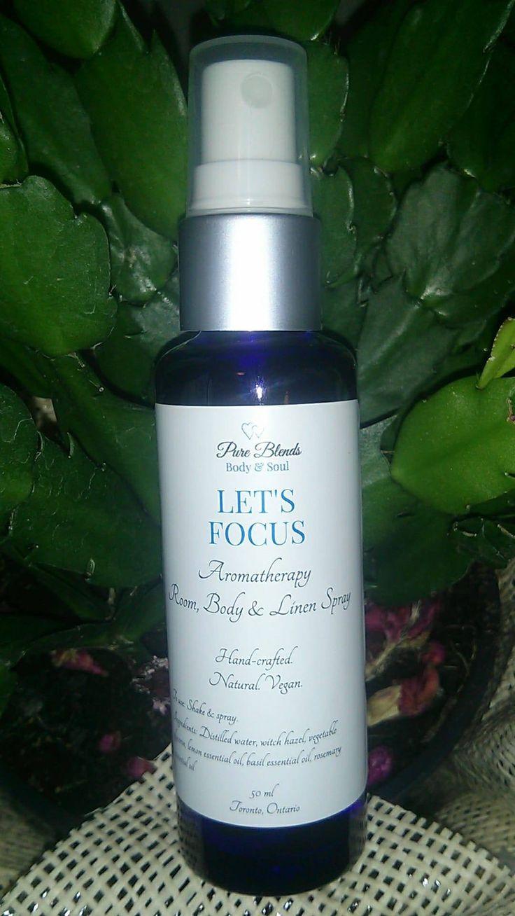 Let's Focus Aromatherapy Room, Linen & Body Spray