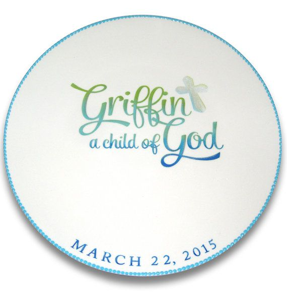 Child of God Baptism Personalized Signature by SerendipityCrafts