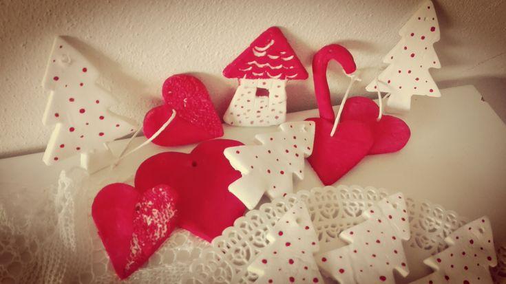 Decorazioni natalizie in pasta di bicarbonato