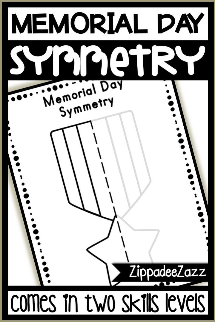 Memorial Day Symmetry Drawing Activity For Art And Math Teaching