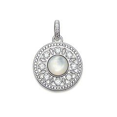 Pendent - 925 Sterling SIlver with Mother of pearl and white cubic zirconia from Thomas Sabo
