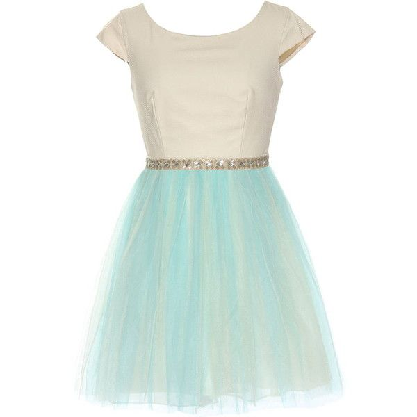 Dandy Candy Dress ($220) ❤ liked on Polyvore featuring dresses, vestidos, scoopneck dress, tiered dress, green sparkly dress, princess seam dress and green cap sleeve dress