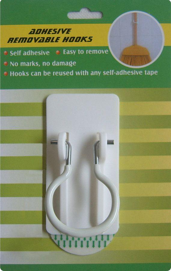 Self adhesive Metal Hook, removable adheisve metal hook, anti-rust metal  hook,