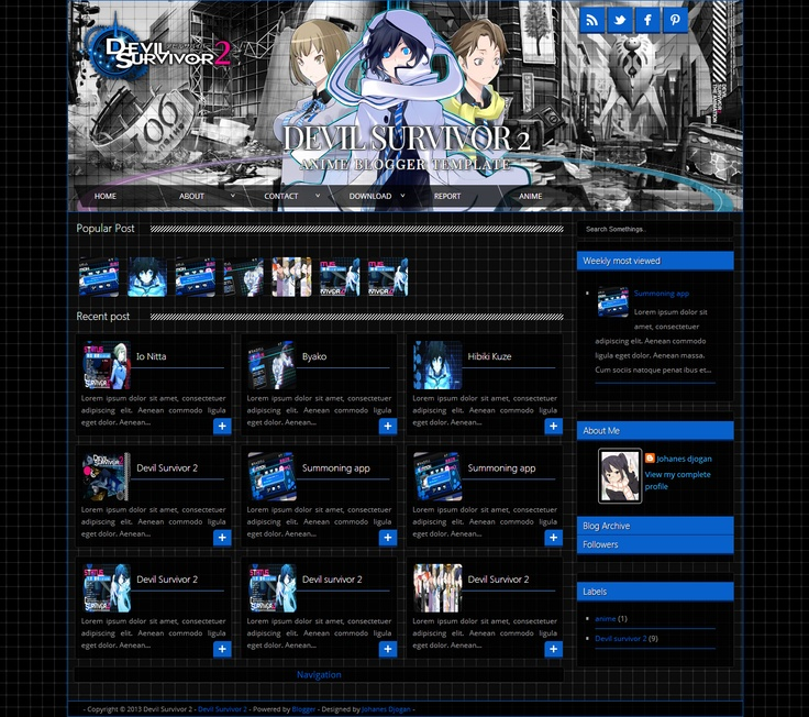 Devil Survivor 2 blogger template  http://djogzs.blogspot.com/2013/05/devil-survivor-2-blogger-template.html