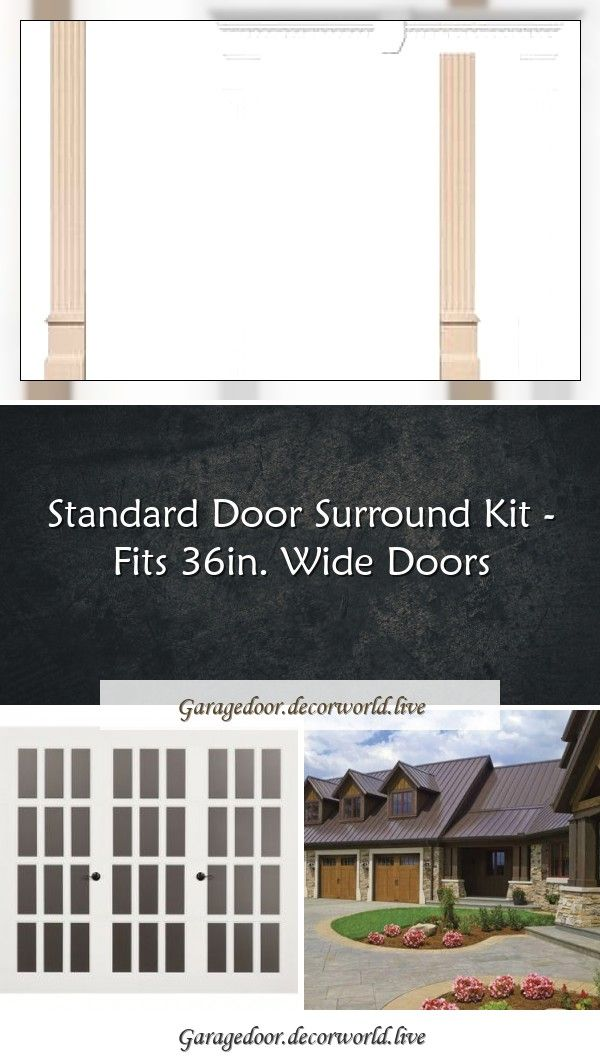Standard Door Surround Kit Fits 36in Wide Doors In 2020 Single Garage Door Folding Garage Doors Garage Door Windows