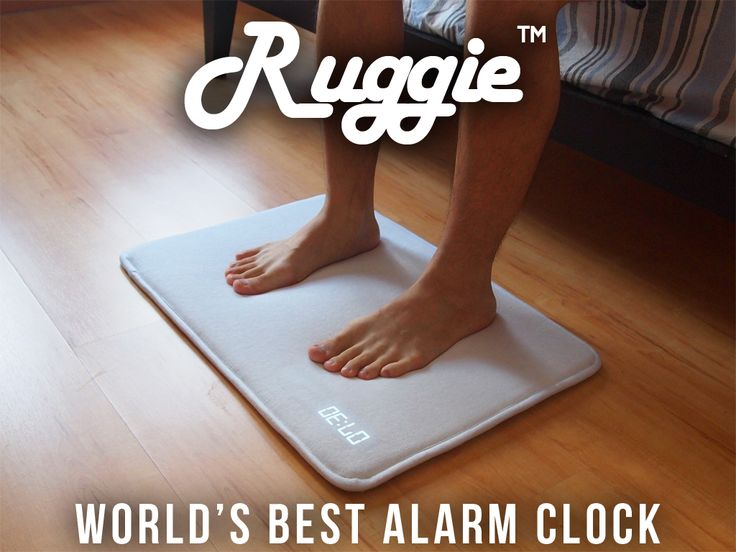Ruggie™ - The World's Best Alarm Clock - aka the alarm clock that'd wake me up just enough for me to roll off my bed and just sleep on top of it to deactivate it lmao