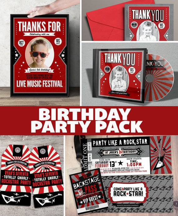 158 best Rock Star  POP Star Birthday images on Pinterest Vip - concert ticket invitation template