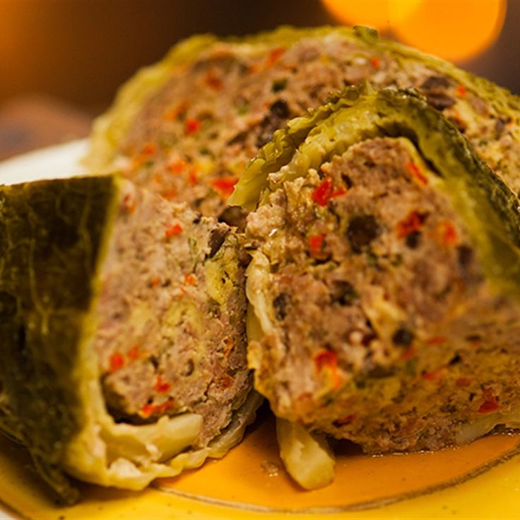 Try this Polish Stuffed Cabbage recipe by Chef Adrian Richardson. This recipe is from the show Secret Meat Business.