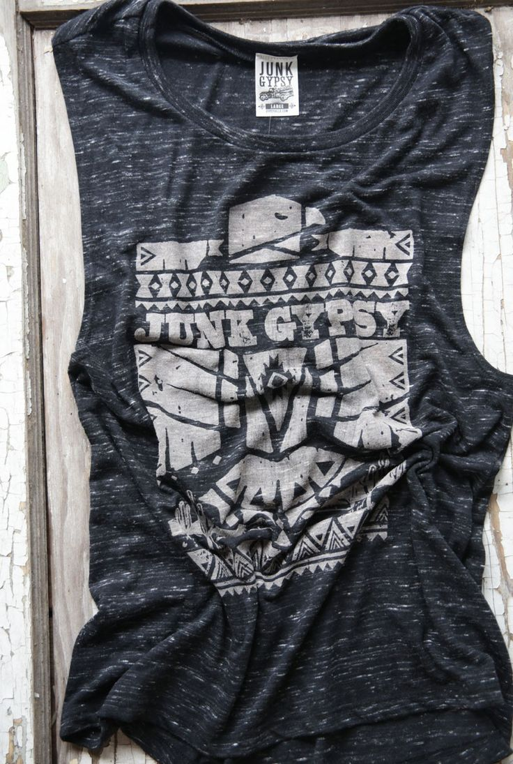 BLACK THUNDERBIRD MUSCLE TEE - Junk GYpSy co.