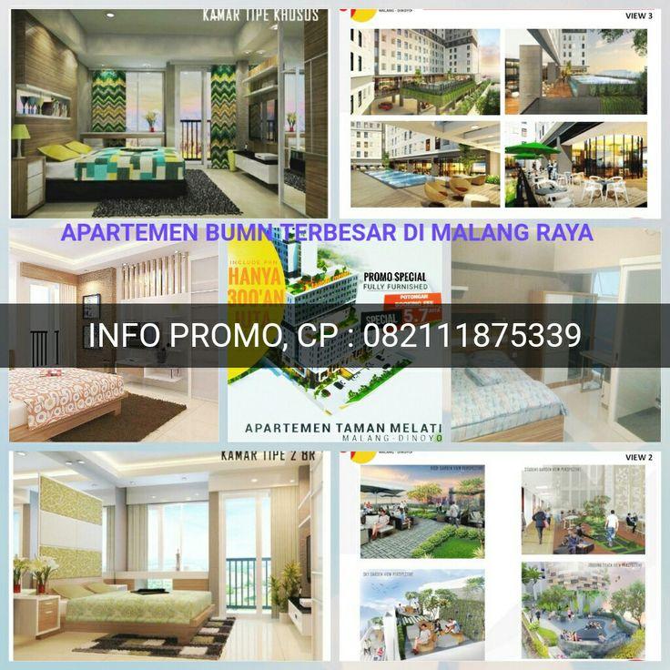 Info PROMO apartemen BUMN terbesar di Malang Raya,  CP: 082111875339 Segera dapatkan kesempatan & terbatas ini, investasi prospektif dengan BEP cepat dengan pasive income yang sangat profit oriented. :)