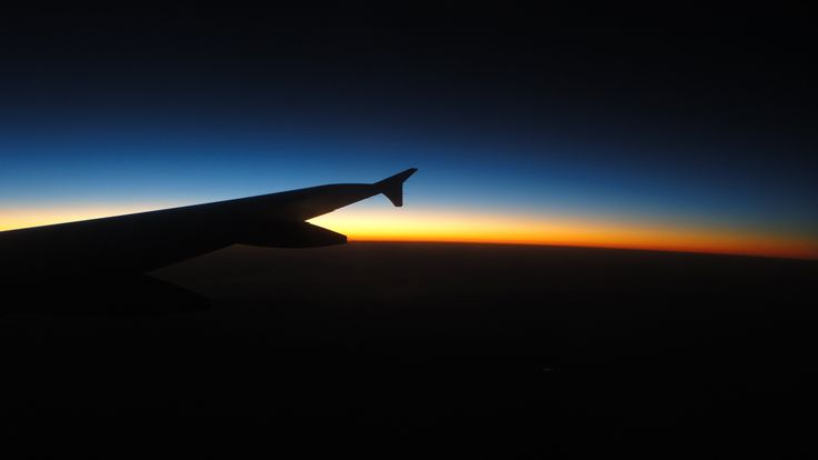Sunset from airplane window!