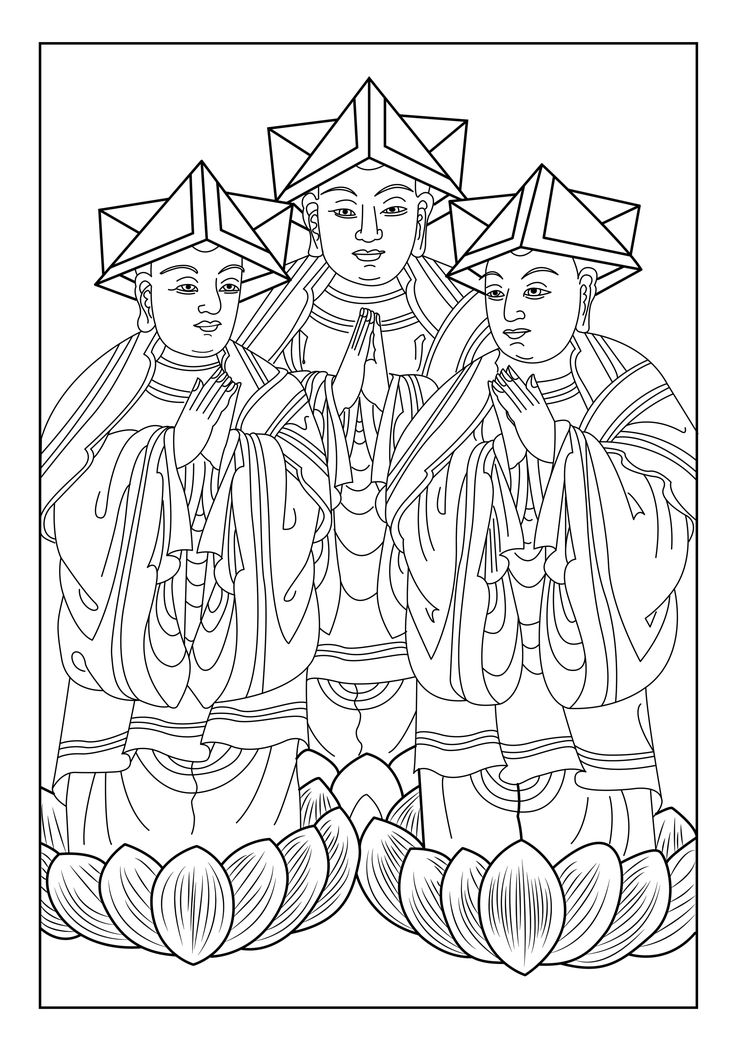 Here Is A Coloring Page With Three Men Of India From The Gallery