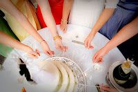 Fly Me to the Moon: Wedding Cake Ribbon Pull