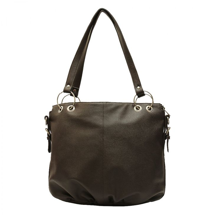 Ladies Handbags - Trendy Handle Brown Bag | Borsavela |
