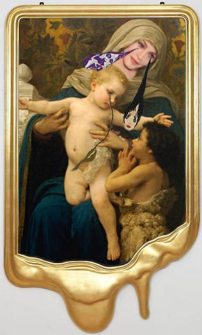 FAIL Madonna Louise Ciccone as Renaissance Madonna after Francesco Vezzoli William Adolphe Bouguereau