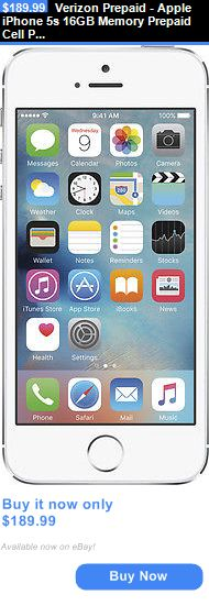 cell phones: Verizon Prepaid - Apple Iphone 5S 16Gb Memory Prepaid Cell Phone - Silver BUY IT NOW ONLY: $189.99