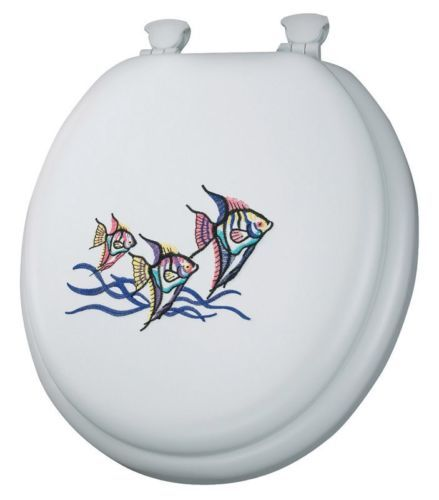 Toilet Seats 37637: Mayfair Round Toilet Seat Embroidered, Tropical Fish Design -> BUY IT NOW ONLY: $30.49 on eBay!