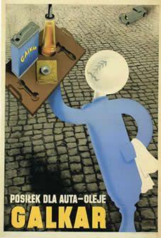 reklama oleje Galkar lata 30-te XX w.