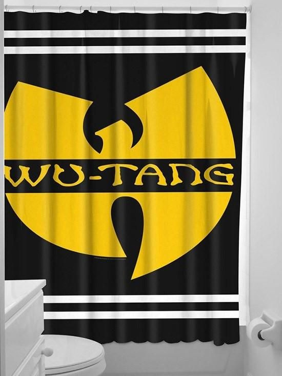 """""""Wu Tang"""" Shower Curtain by Sourpuss (Black) for Johnny"""