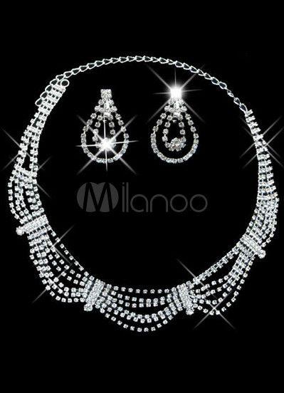 #Milanoo.com Ltd          #Wedding Jewelry Sets     #Graceful #Silver #Plated #Rhinestone #Bridal #Earrings #Necklace #Jewelry    Graceful Silver Plated Rhinestone Bridal Earrings Necklace Jewelry Set                                  http://www.seapai.com/product.aspx?PID=5692420