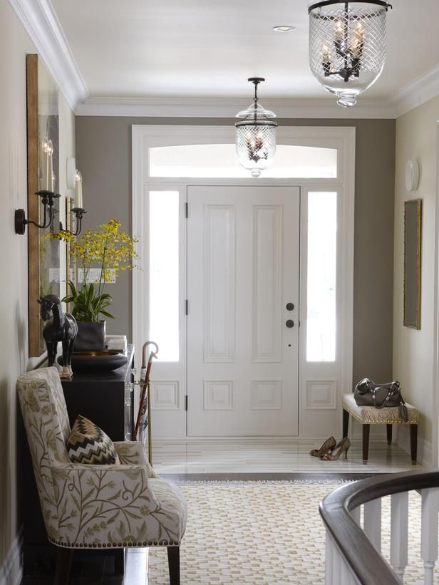 Neutral Foyer by HGTV's Sarah Richardson http://www.hgtv.com/on-tv/sarahs-suburban-house-new-home-classic-style/pictures/index.html?soc=pinterest