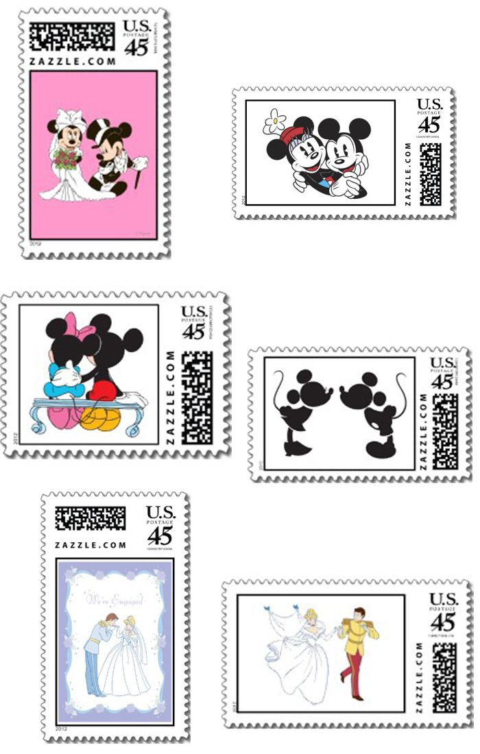 #disney stamps so cute for save the dates, #wedding invitations and thank you cards