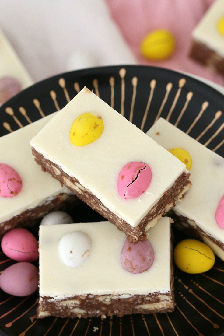 This CHOCOLATE HEDGEHOG EASTER SLICE is a fun variation on a classic favourite hedgehog recipe… biscuits, chocolate and coconut with a special Easter twist! #chocolate #easter #slice #hedgehog #easy #recipe #thermomix #conventional