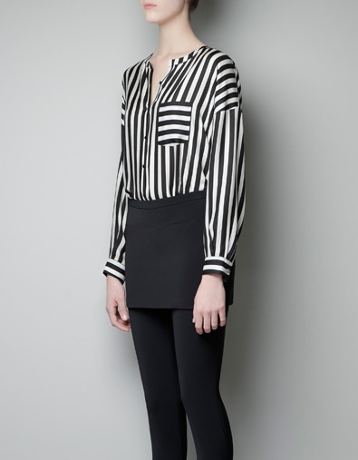 STRIPED BLOUSE WITH POCKET - Shirts - Woman - New collection - ZARA