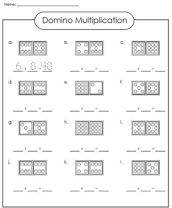 Check out our domino multiplication worksheet! | Math - Super ...