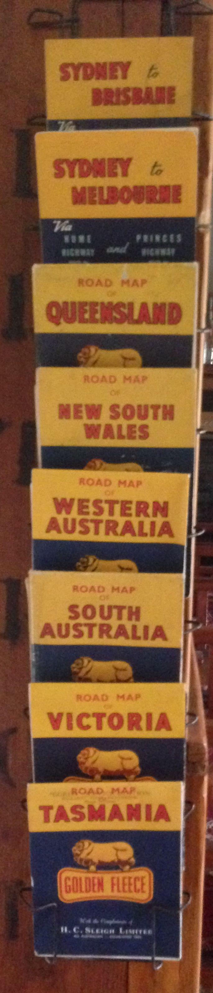 Vintage rack of Golden Fleece maps