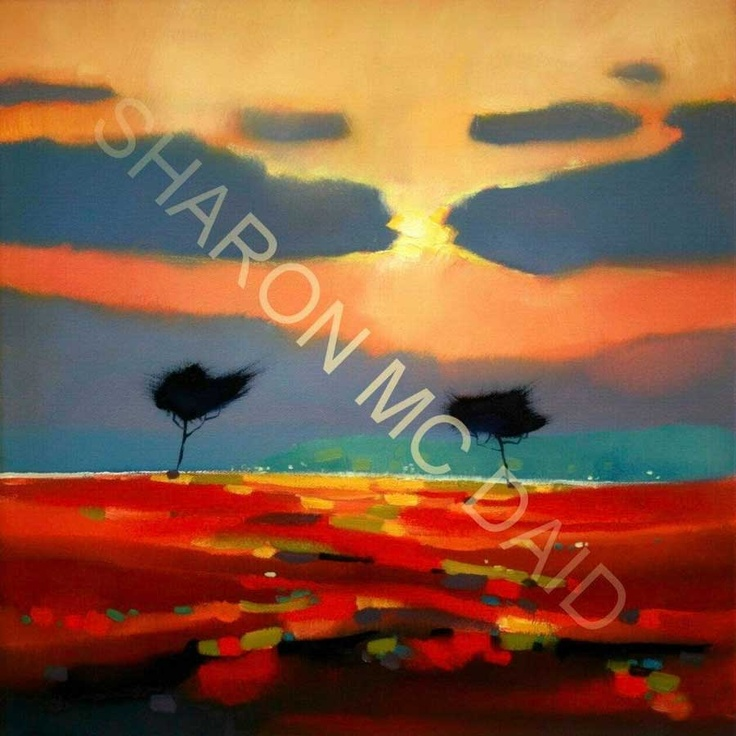 Evening light on the red bog by Sharon McDaid - PRINT