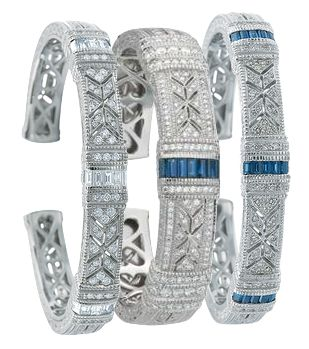 Diamond and Sapphire cuffs
