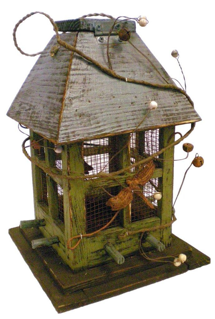 Rustic Mesh Window Bird Feeder