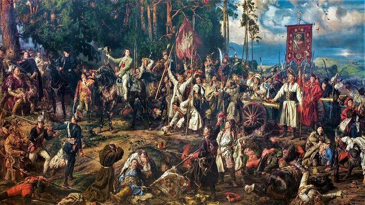 весной 1794 года уменьшившаяся и ослабленная Польша восстала. Ян Матейко, не любивший 18-й век и обращавшийся к нему крайне неохотно, не смог проигнорировать этот сюжет: одна из его поздних картин посвящена первой победе повстанцев в сражении при Рацлавицах. 4 апреля 1794 года, места к северо-востоку от Кракова.