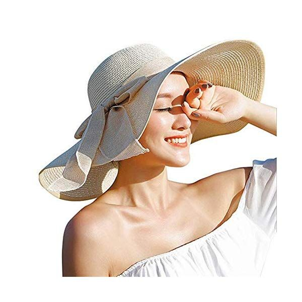 Women S Wide Brim Sun Protection Straw Hat Folable Floppy Hat Summer Uv Protection Beach Cap Webstorewiki Floppy Sun Hats Floppy Hat Summer Wide Brim Hat