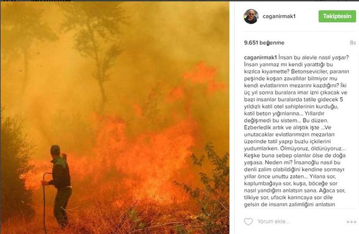 Antalya'nın Kumluca ilçesinin Adrasan Mahallesi'nde üç gün önce başlayan yangın, rüzgarın etkisiyle kısa sürede geniş bir alana yayıldı. Yangınların aşırı sıcaklar yüzünden çıktığı söylense de ormanlarımızın kasıtlı olarak yakıldığı görüşü önemli bir tartışma konusu. Detaylar ajanimo.com'da.. #ajanimo #ajanbrian #orman #yangın