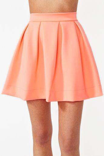 Scuba skater skirt fluo orange by Nasty Gal