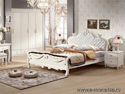 Mobila Dormitor Clasica Lemn si MDF Alb | Dormitoare Clasice Albe
